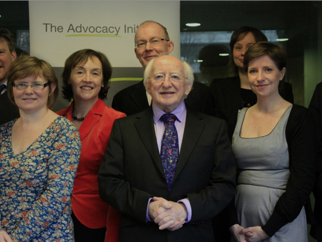 President D. Higgins at our inaugural Knowledge Exchange Forum with members of the Steering Committee.